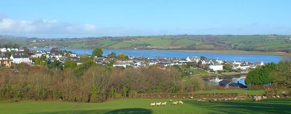 Views over Cargreen village, Cornwall